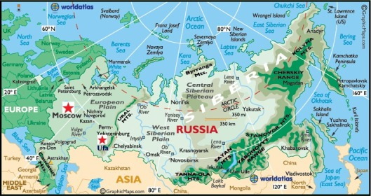 Map of Russia Ufa