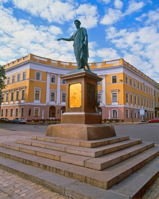 Monument to Duke de Richelieu in Odessa, Ukraine