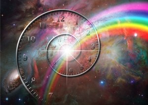 bigstock-Spiral-clock-with-rainbow-and--33773150