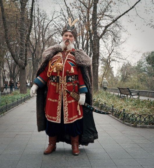 Ukrainian cossack on Primorsky boulevard