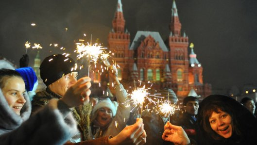 NY celebrations in Russia