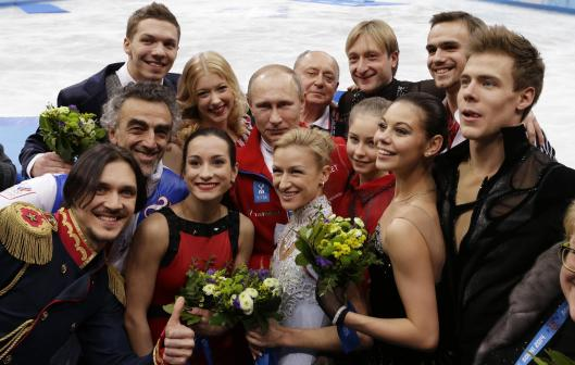 Putin and Russian figure skaters