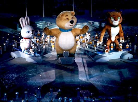 sochi closing mascots