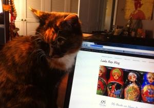 Lilechka helping me work
