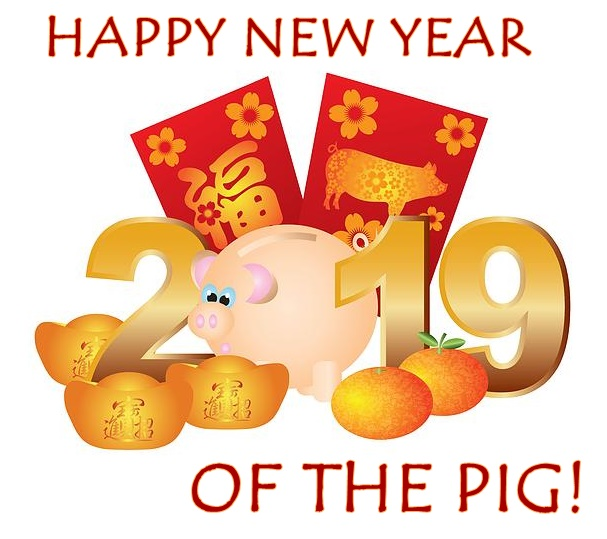 2019 Happy Chinese New Year of the Pig1 BEST