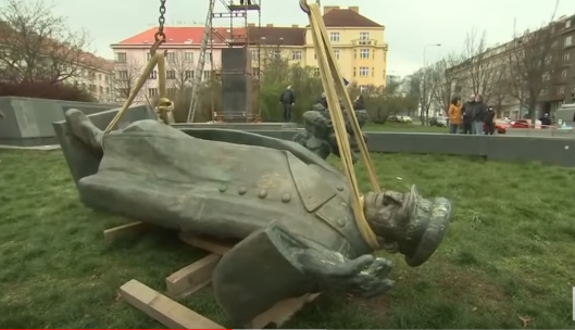2020 Prague demolishes monument to Marshal Konev